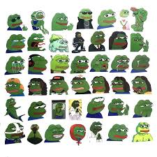 <b>42pcs</b>/<b>Lot Funny</b> Pepe the Frog Skateboard Suitcase Luggage ...
