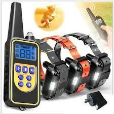 Waterproof <b>800m</b> LCD <b>Dog</b> Training E-Collar Rechargeable Remote ...
