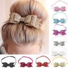 Cute Kid Baby Girls Glitter Big Bow Knot Elastic Hair Band ... - Vova