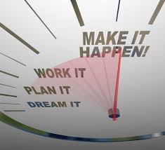 don t just set goals achieve them the s leader a white speedometer background words representing steps to achieving success dream plan
