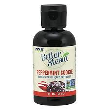 NOW Foods, <b>Better Stevia</b>, Liquid, Peppermint Cookie, <b>Zero</b>-<b>Calorie</b>