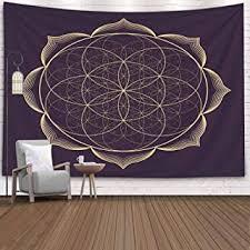 <b>Dreamy Unicorn</b> & Holy Tree Tapestry Wall Hanging Living Room ...