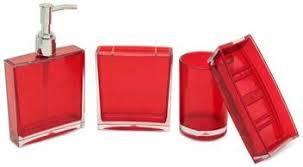 LIFEMUSIC 4 pcs Square Shape Acrylic Bathroom Accessories ...