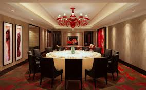 recessed lighting in dining room. red chandelier shades for luxury dining room with extra large round table and recessed lighting ideas in