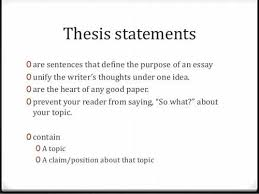 how to write a good thesis statement  ehow
