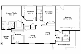 Rectangular Ranch House Floor Plans In Addition Economic Small