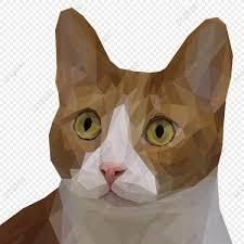<b>прелестный</b> коричневый <b>кот</b> в многоугольной иллюстрации ...