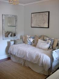 gorgeous daybeds with trundle in home office shabby chic with sisal carpet next to office guest room alongside martha stewart sharkey grey and trundle bed bed in office