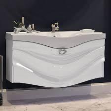 <b>Тумба с раковиной Aima</b> Design Eclipse 110 white купить дешево ...
