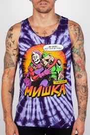 <b>Майка МИШКА Final Moments</b> Tie-dye Tank Top (Purple-Tie-Dye ...