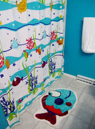 tween boys bathroom design kids bedroom  fish life theme shower curtain for bathroom excerpt blue