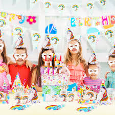 <b>Birthday party decoration unicorn disposable</b> tableware set Kid <b>party</b> ...