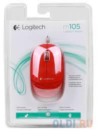 <b>Мышь Logitech M105</b> Red USB — купить по лучшей цене в ...