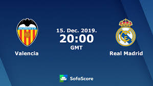 Valencia Real Madrid live score, video stream and H2H results ...
