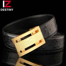 <b>DESTINY</b> Fashion men <b>belt</b> luxury Crocodile pattern copper smooth ...