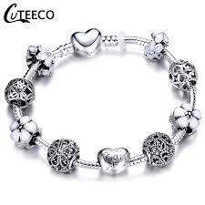 <b>CUTEECO</b> European Love Heart Charm <b>Bracelets</b> & <b>Bangles</b> 2018 ...