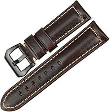 <b>MAIKES Watch Band</b> 22mm 24mm 26mm Vintage Oil Wax Leather ...