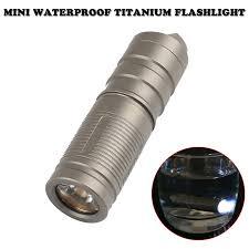 Mini Waterproof Titanium <b>Self Defense</b> Flashlight <b>Portable</b> ...