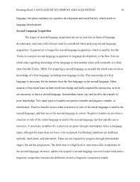 extended essay   running head language development and acquisition