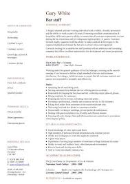 bar staff cv sample  dining  restaurant  resume  job application    bar staff cv sample