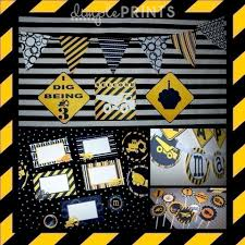 Construction Birthday Party Decorations Construction Printable Party Package Dimple Prints Shop