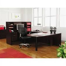 valencia u desk with peninsula bridge credenza boxfile pedestal and hutch alternative office solutions bridge reception counter office line