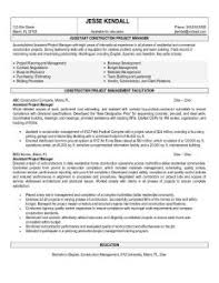 construction project manager resume sample   best resume galleryconstruction project manager job description  sample resume for construction worker