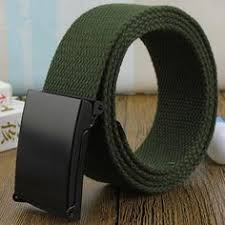 <b>Unisex Canvas Belt</b> for Mens Automatic Buckle <b>Belt</b> Strap <b>New</b> ...