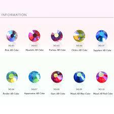 <b>Mixed Size AB</b> Colorful Crystal Nail Art Rhinestones Non <b>Hotfix</b> ...