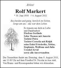 Anzeige für Rolf Markert - 004026