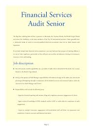 audit senior resume big  seangarrette coaudit senior resume
