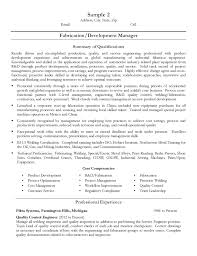 fabrication  amp  development manager resumefree resume templates