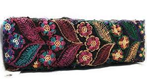L A C E S T Y L E S, LS <b>Velvet Beautiful</b> Multi <b>Embroidery</b> ON Black ...