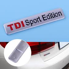 CITALL <b>Auto Car chrome TDI</b> SPORT Edition Emblem Badge Decal ...