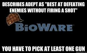 """Describes Adept as """"best at defeating enemies without firing a ... via Relatably.com"""