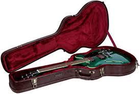 Crossrock <b>Vintage</b> Brown Arch-Top <b>Wooden</b> Case For Semi-<b>Hollow</b>