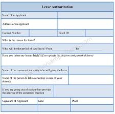 leave authorization form buy sample forms online leave authorization form