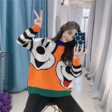 2019 Autumn Winter <b>New</b> Bear <b>Women Sweater</b> Loose <b>Cartoon</b> ...
