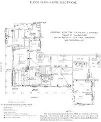 The General Electric Company at the Panama Pacific Exposition    This plan indicates the electrical outlets which are installed in the Home Electrical  The location and number of such outlets in any house will naturally