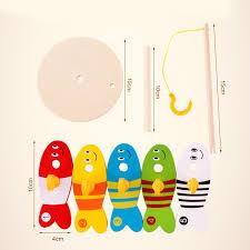 5 шт. Детские <b>деревянные игрушки</b> рыбалка <b>Фишер</b> игрушка ...