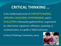 Critical thinking   Wikipedia  the free encyclopedia EdTechReview