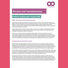 Women and homelessness briefing Homeless Link