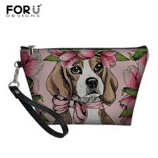 <b>FORUDESIGNS Women's</b> Makeup Case Beagles Pet Dog Printing ...