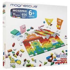 <b>Magneticus</b> Магнетикус <b>Мозаика</b> магнитная 654 элемента, 11 ...