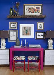 view in gallery versatile parsons desk in hot pink steals the show here design design manifest blue home office ideas