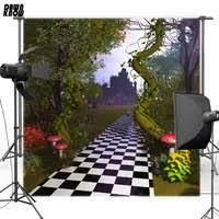 <b>DAWNKNOW Vinyl Backdrop</b> Alice in Wonderland Castle Mushroom ...
