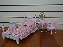 barbie size dollhouse furniture bed room beauty play set amazoncom barbie size dollhouse