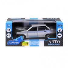 Модель ВАЗ 21099 серебристый свет звук Автопанорама, цена ...