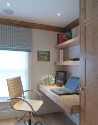office desk small belgravia inspiration for a farmhouse home office remodel in london with a built office desk