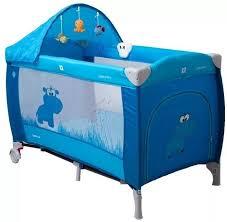 <b>Манеж</b>-<b>кровать COTO</b> BABY Samba Lux Голубой